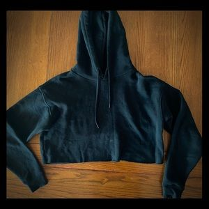 UO Out From Under black cropped hoodie